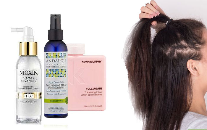 Hair thickening products increase hair growth