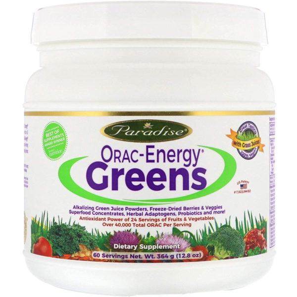 Paradise Herbs ORAC Energy organic green powder drink