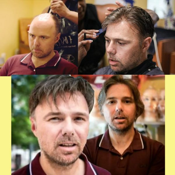 Karl Pilkington with hair