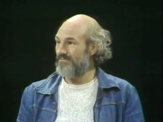 Patrick Stewart with long grey hair