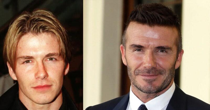 David Beckham young old hair